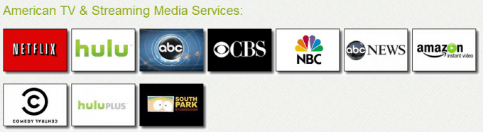 The selection of American channels
