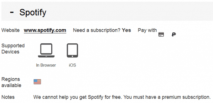 Unblocking Spotify using Unblock Us